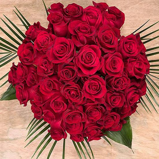 Romance of 50 Red Roses with Vase wenghoa